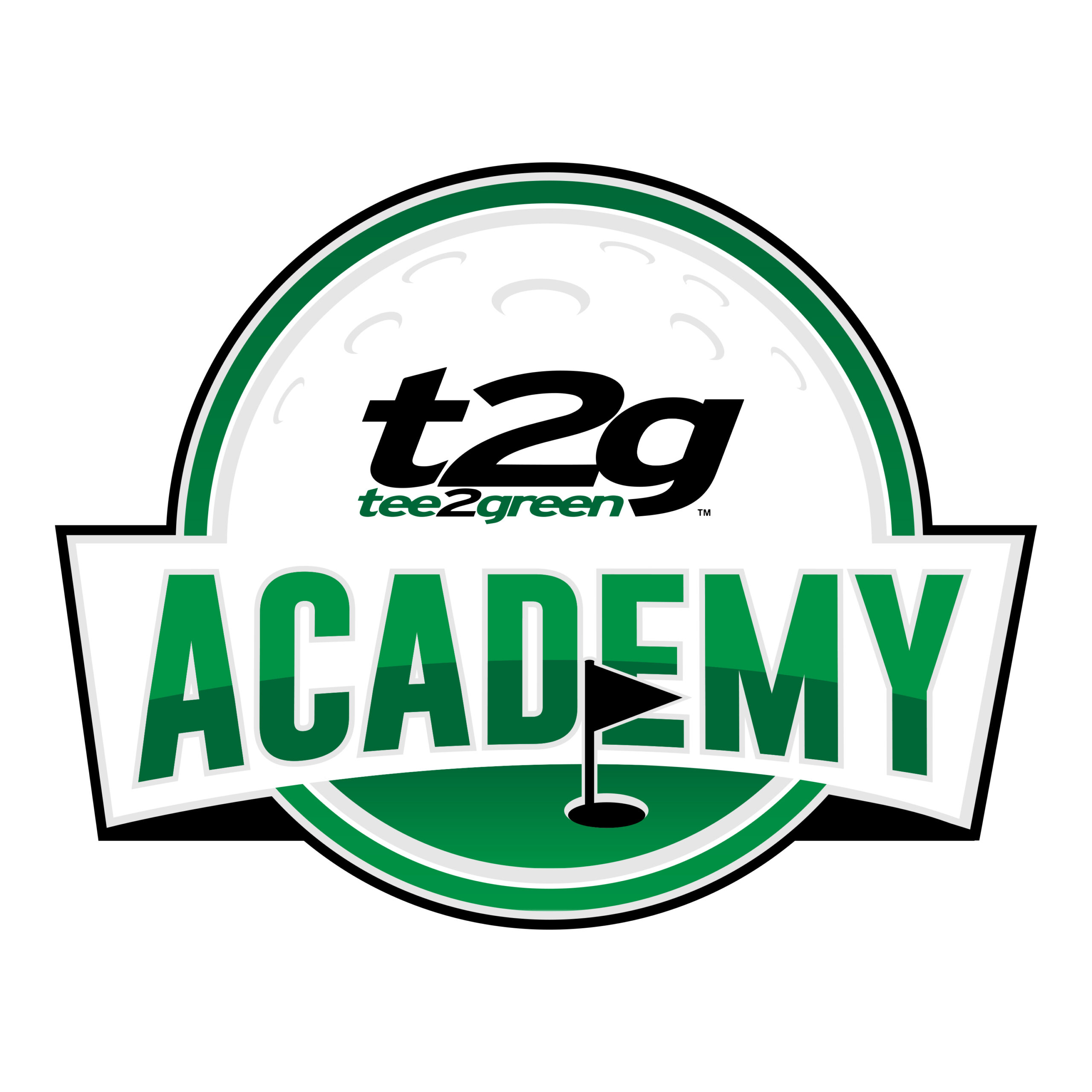 T2G Academy logo - Black outline